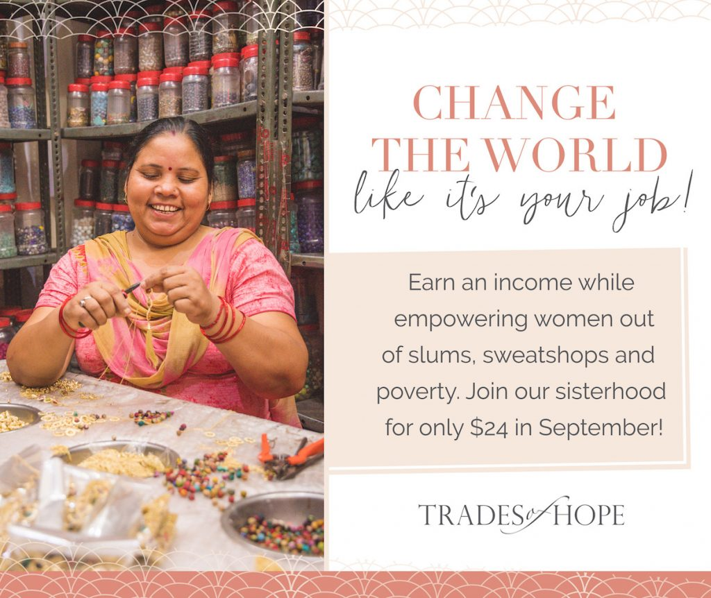Come read all about Trades of Hope one of the first missional direct sales company to join. Read all about Trades of Hope and how to earn money by selling Fair Trade & Ethical Accessories online! Click to read and email tawnyandluke@kindredmovement.com to join