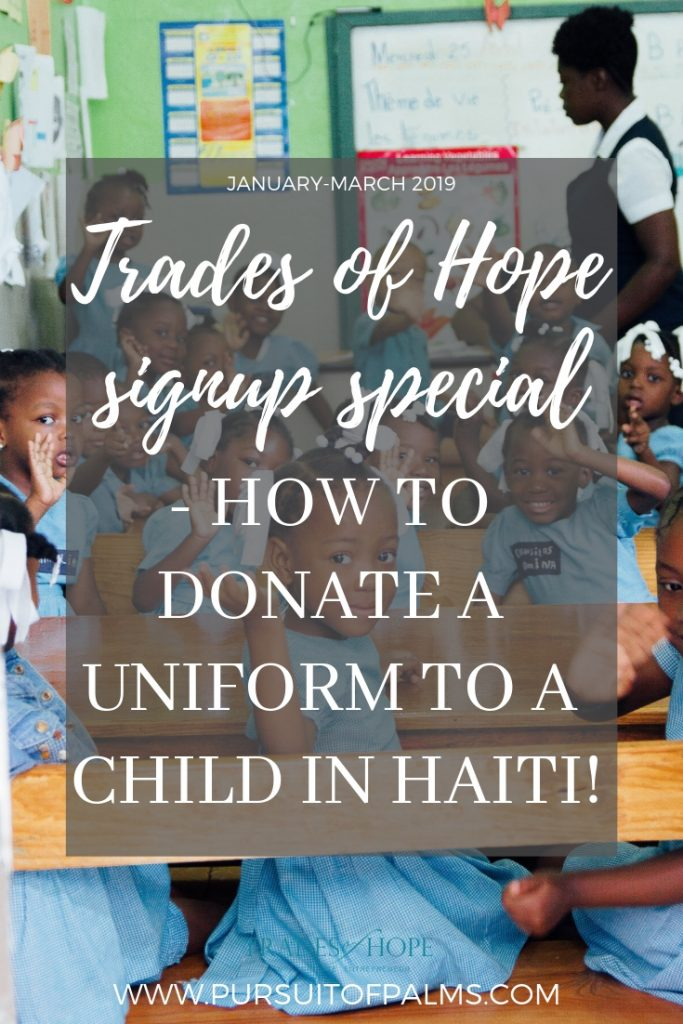 Find out how YOU can provide a school uniform to a child in Haiti with Trades of Hope! Start your Fair Trade business that impacts people all around the globe with Trades of Hope today! Click to read and email tawnyandluke@kindredmovement.com with any questions you may have about this incentive! #tradesofhope #directsales #fairtrade #ethical