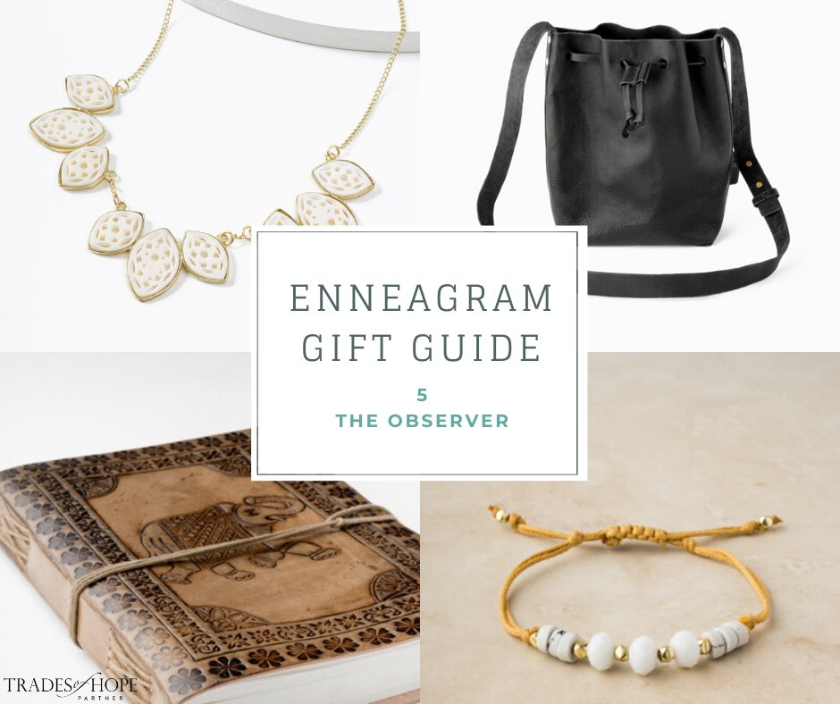Enneagram Type 5 Fair Trade Gift Guide | Read all about the Type 4 Gift ideas! Click for details on how to purchase these gorgeous Fair Trade & Ethical Gifts for yourself! #fairtrade #ethical #giftguide #tradesofhope #directsales #enneagram