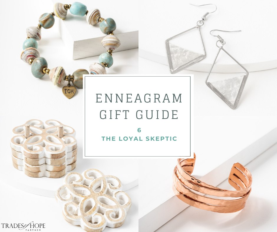 Enneagram Type 6 Fair Trade Gift Guide | Read all about the Type 6 Gift ideas! Click for details on how to purchase these gorgeous Fair Trade & Ethical Gifts for yourself! #fairtrade #ethical #giftguide #tradesofhope #directsales #enneagram